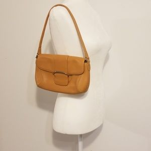 Cole Haan camel leather handbag